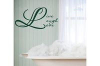 Live Laugh Love Vinyl  Wall Words Decal