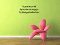 May the Wind Be At Your Back Wall Decal Words