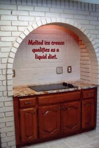 Melted Ice Cream Qualifies As a Liquid Diet Wall Decal Words