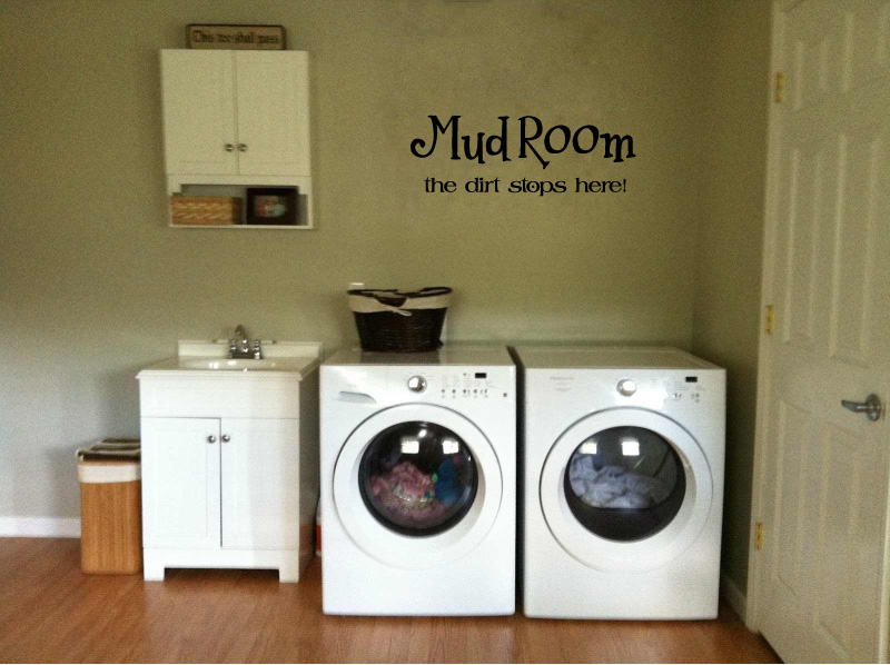 Mud Room The Dirt Stops Here Vinyl Wall Words Decal Sticker Graphic