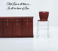 That Love Is All There Is Is All We Know of Love Wall Decal Words