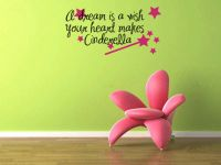 A Dream Is a Wish Your Heart Makes Cinderella  Wall Words Decal Decal