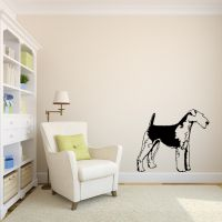 Airedale Life Size Vinyl Wall Decal Sticker Graphic