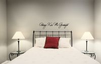 Always Kiss Me Goodnight Wall Decal  Wall Words Decal