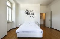 Huge Always Kiss Me Goodnight with Hearts Wall Decal