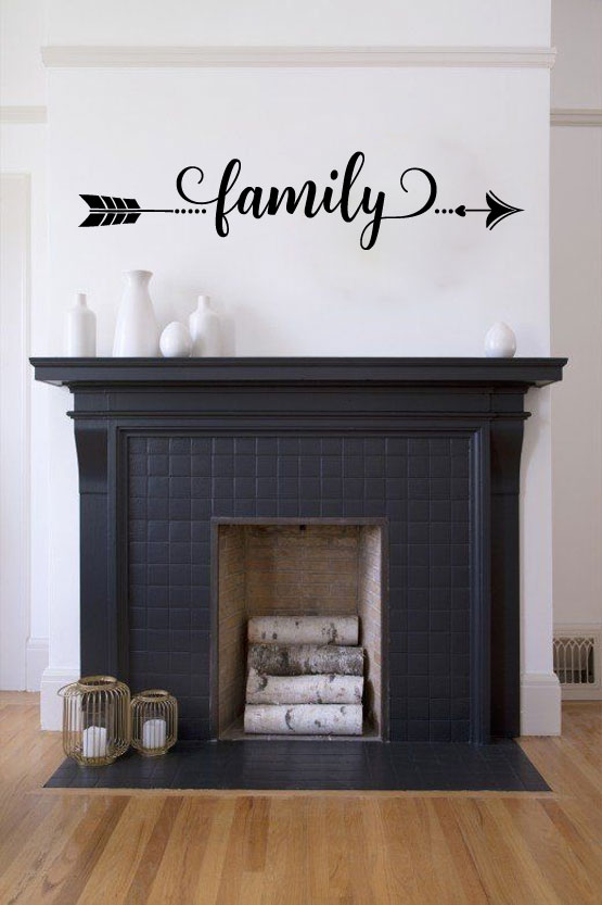 Arrow Family Vinyl Wall Words Decal Sticker