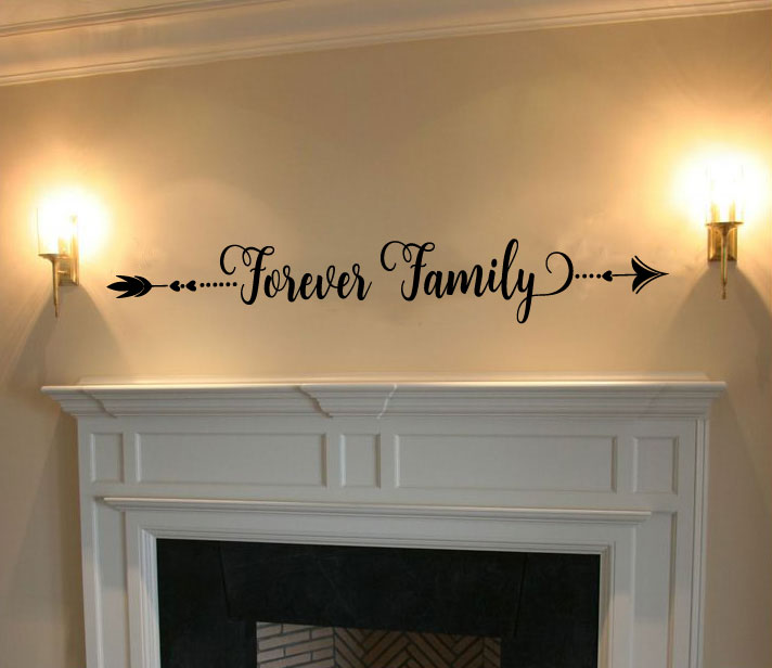 Arrow Forever Family Vinyl Wall Words Decal Sticker