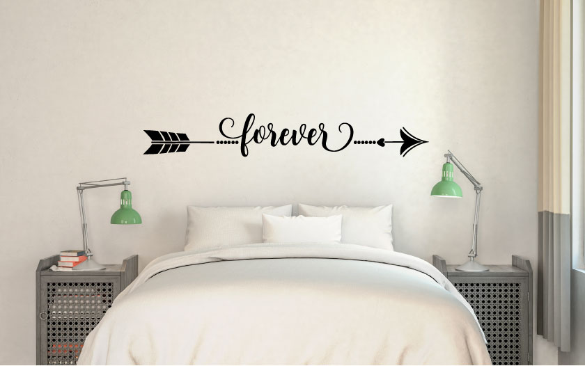 Arrow Forever Vinyl Wall Words Decal Sticker