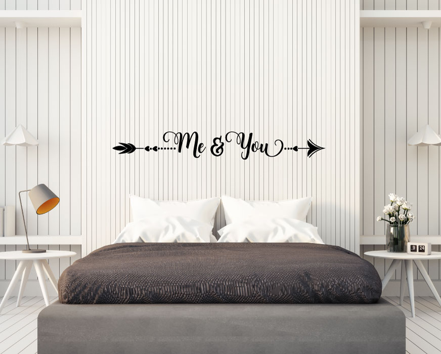 Arrow Me and You Vinyl Wall Words Decal Sticker