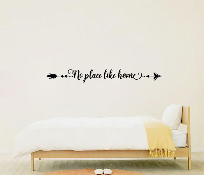 Arrow No Place Like Home Vinyl Wall Words Decal Sticker