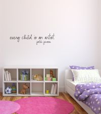 Every Child is an Artist - Pablo Picasso Vinyl Wall Words Decal Sticker
