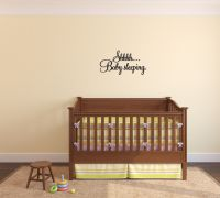 Shhhh Baby Sleeping Vinyl Wall Words Decal Sticker Graphic