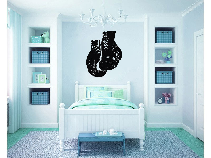 Boxing Gloves Vinyl Wall Words Decal Sticker Graphic