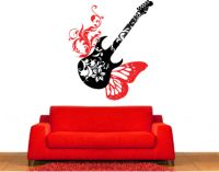 Butterfly Guitar Wall Decal