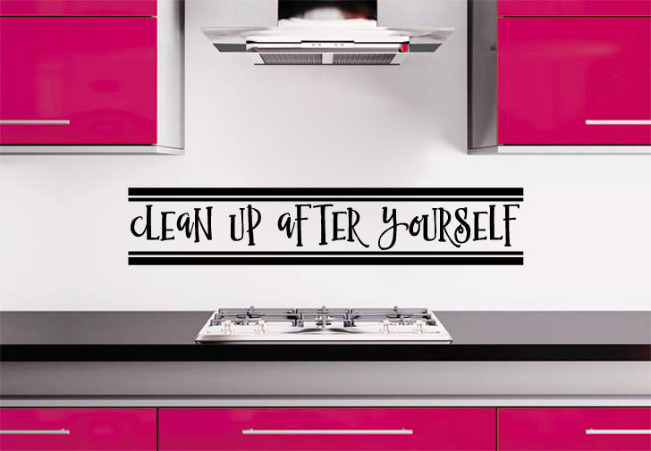 Clean Up After Yourself Vinyl Wall Words Decal Sticker