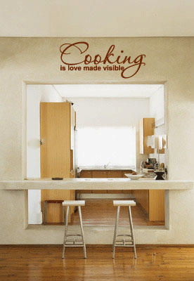 Cooking is Love Made Visible Wall Wall Words Decal