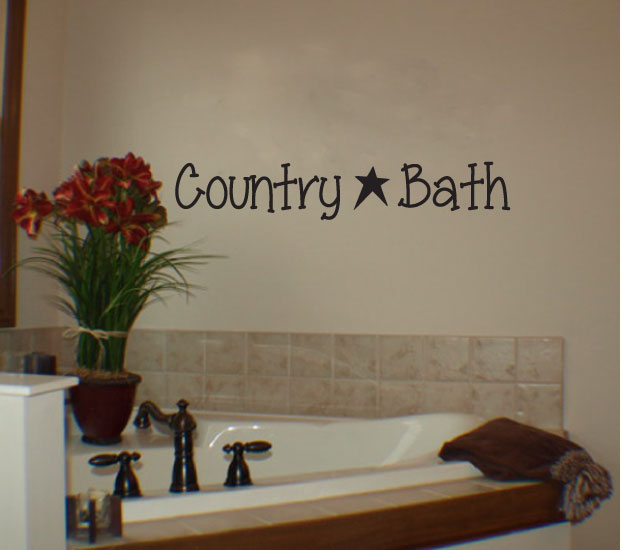 Country Bath Vinyl Wall Words Decal Sticker Graphic