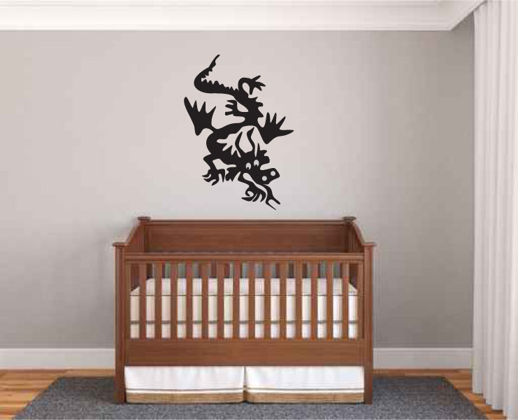 Cute Dragon Vinyl Wall Decal Sticker Graphic