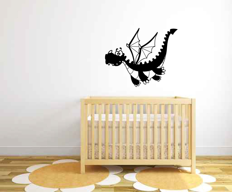Dragon Baby Flying Vinyl Wall Decal Sticker