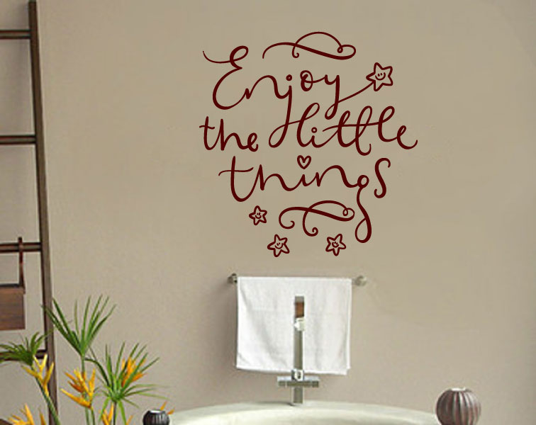 Enjoy the Little Things Vinyl Wall Words Decal Sticker Graphic