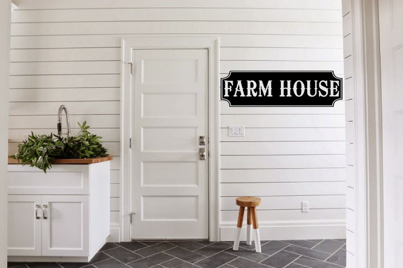 Farmhouse Vinyl Wall Words Decal Sticker Graphic