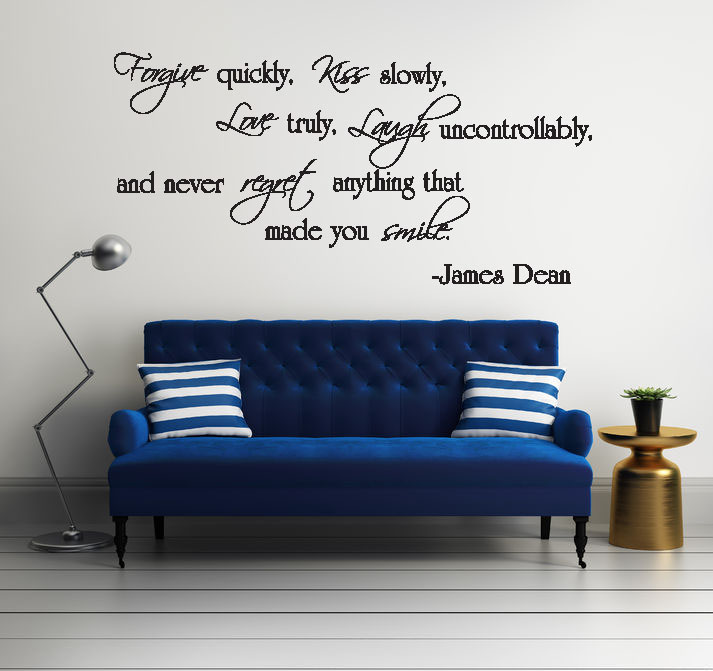 Forgive Quickly Kiss Slowly Vinyl Wall Words Decal Sticker Graphic