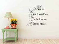 God is a DJ Life is a Dance Floor Vinyl Wall Words Decal Sticker Graphic