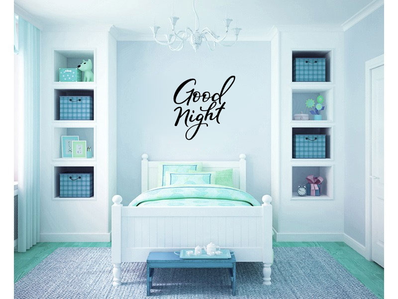 Goodnight Good Night Vinyl Wall Words Decal Sticker Graphic