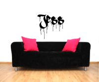 Graffiti Personalized Custom Name Vinyl Wall Words Decal Sticker