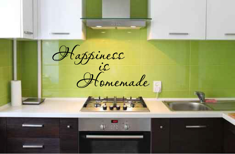 Happiness is Homemade Vinyl Wall Words Decal Sticker