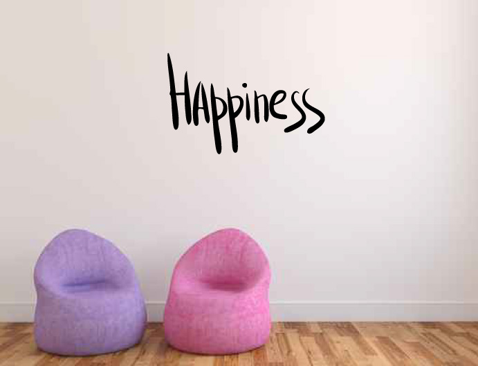 Happiness Vinyl Wall Words Decal Sticker