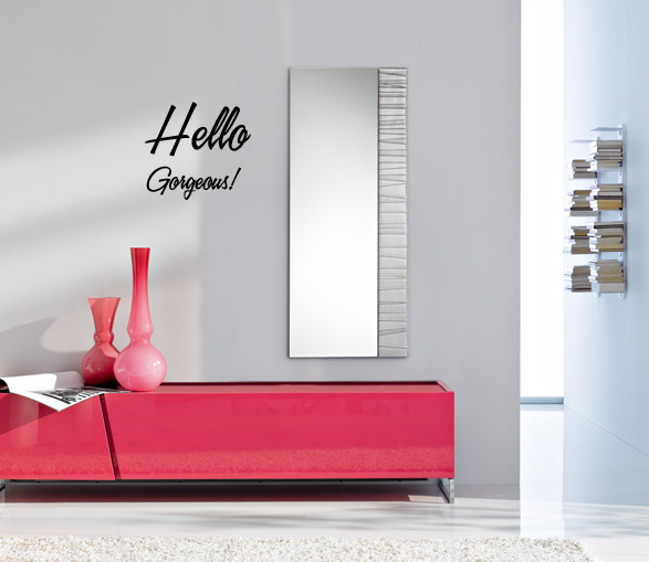 Hello Gorgeous Vinyl Wall Words Decal Sticker
