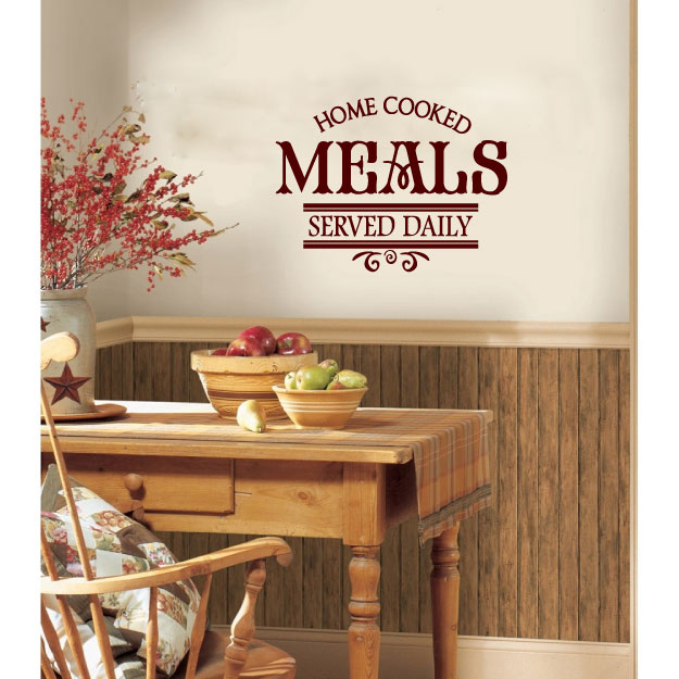 Home Cooked Meals Served Daily Vinyl Wall Words Decal Sticker