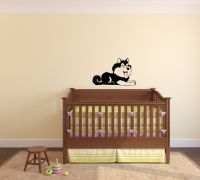 Wolf Husky Puppy Wall Decal
