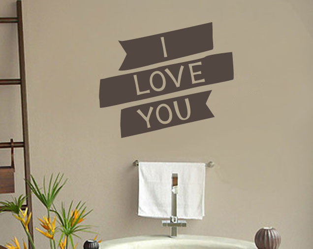 I Love You Vinyl Wall Words Decal Sticker