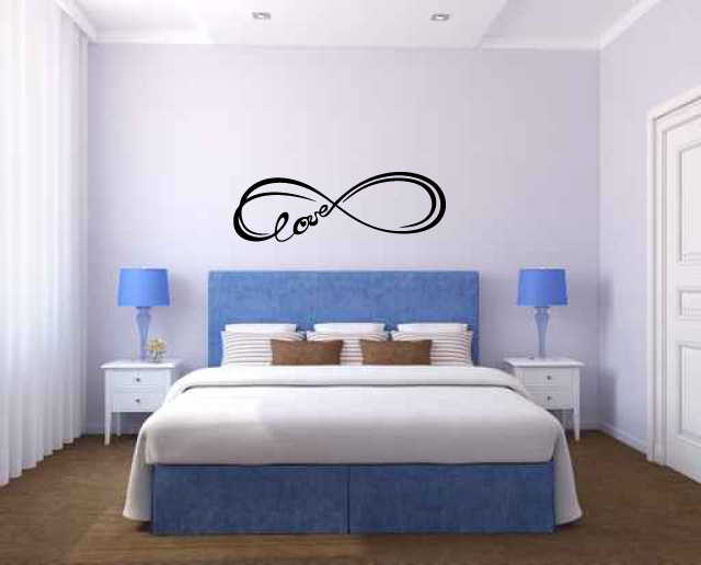 Infinity Love Symbol Vinyl Wall Words Decal Sticker