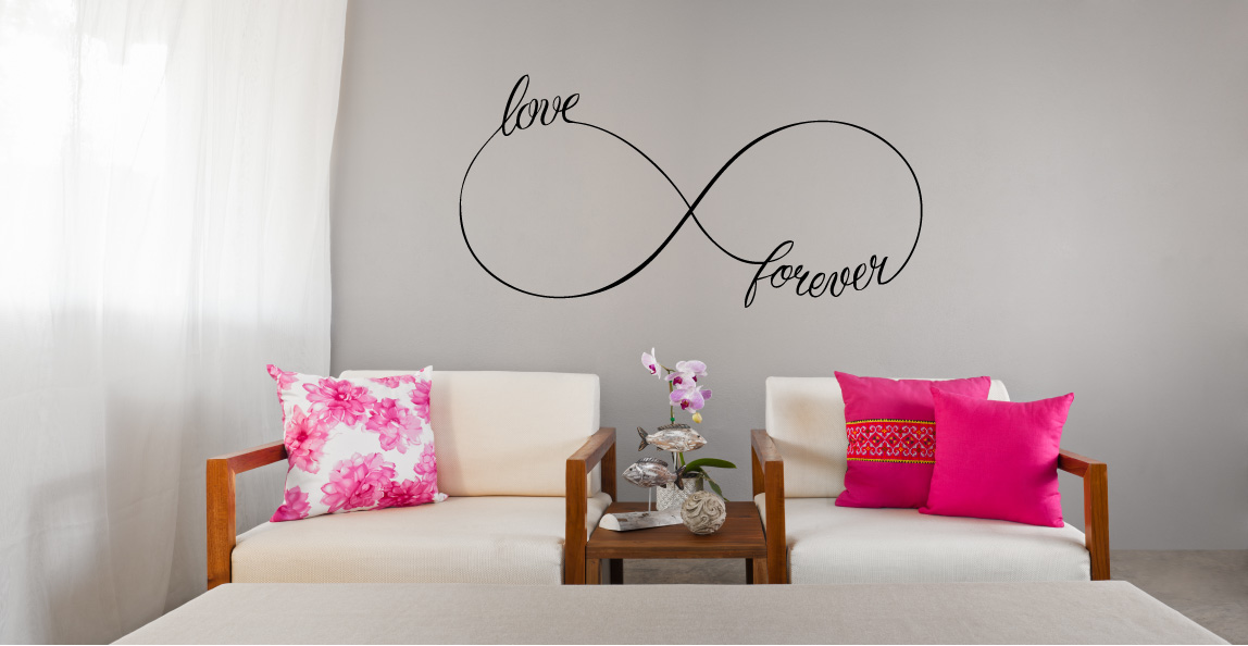 Infinity Love Forever Symbol Vinyl Wall Words Decal Sticker