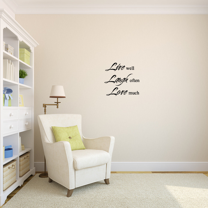Live Well Laugh Often Love Much Wall Words Decal