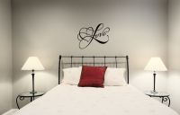 Love with Hearts Vinyl Wall Words Decal