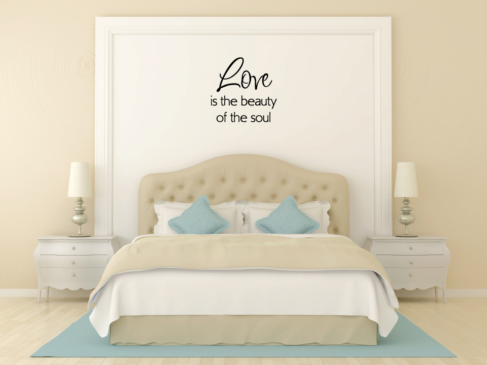 Love is the Beauty of the Soul Vinyl Wall Words Decal Sticker