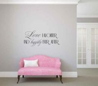Love Laughter and Happily Ever After Vinyl Wall Words Decal Sticker Graphic