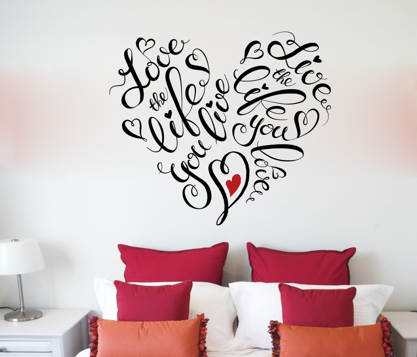 Love The Life You Live Vinyl Wall Decal Sticker