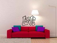 Love Heart Peace Graffiti Vinyl Wall Words Decal