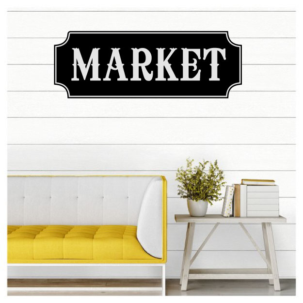 Market Vinyl Wall Words Decal Sticker Graphic