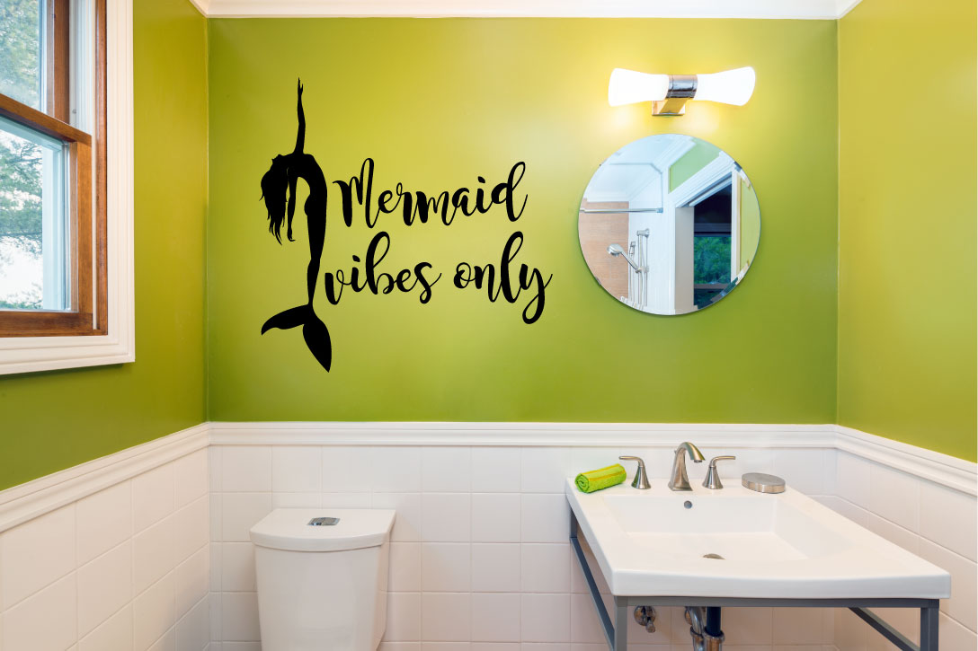 Mermaid Vibes Only Vinyl Wall Decal Sticker Graphic