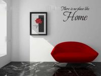 There Is No Place Like Home Wall Words Decal