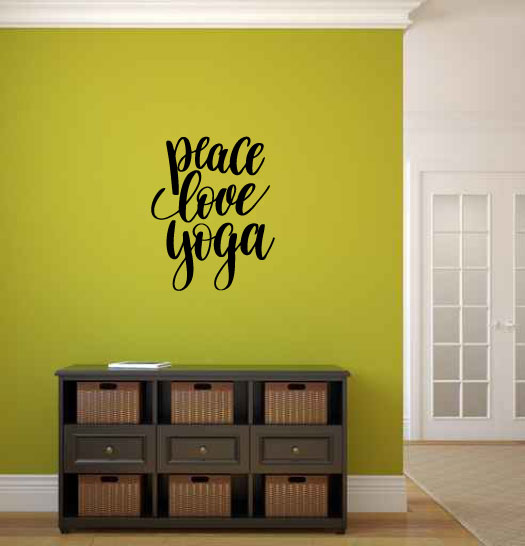 Peace Love Yoga Vinyl Wall Decal Sticker Graphic
