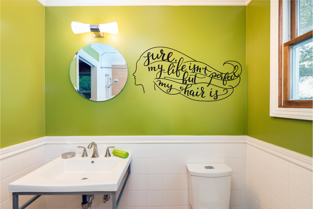 Sure My Life Isn't Perfect But My Hair Is Vinyl Wall Decal Sticker