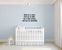 Read Me a Story Tuck Me in Tight Say a Kind Prayer and Kiss Me Goodnight Wall Words Decal