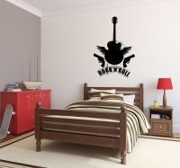 Rock and Roll Guitar Wall Decal